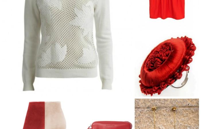 Look rojo y blanco para San Valentín
