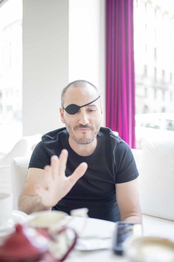 Luis Cerezo, autor de Eo. Foto de Javier Arroyo para Madrid a tu estilo