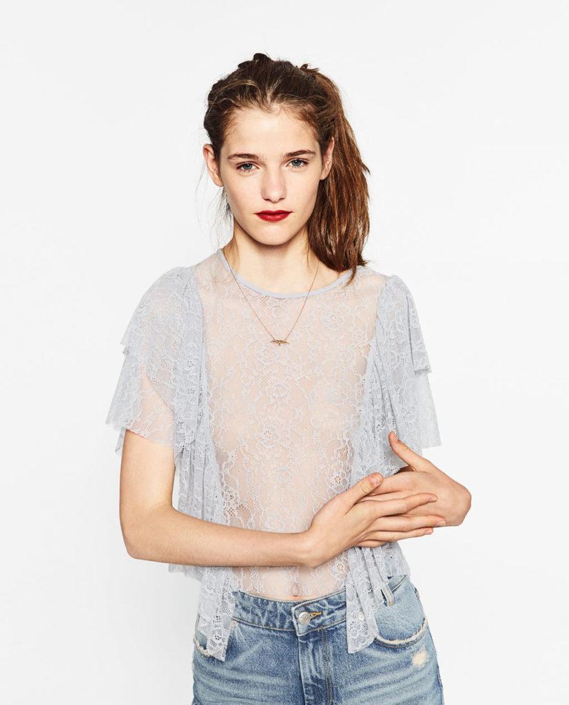 Top de encaje de Zara | Madrid a tu estilo